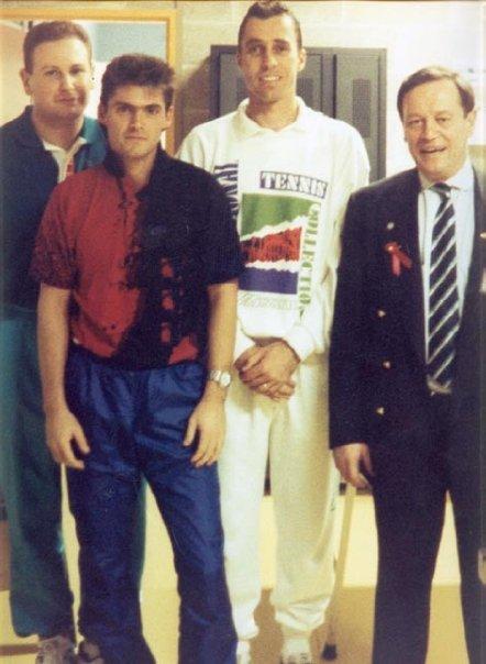 François Gressot, Ivan Lendl & Jacques Bailly. Open 13. 1993
