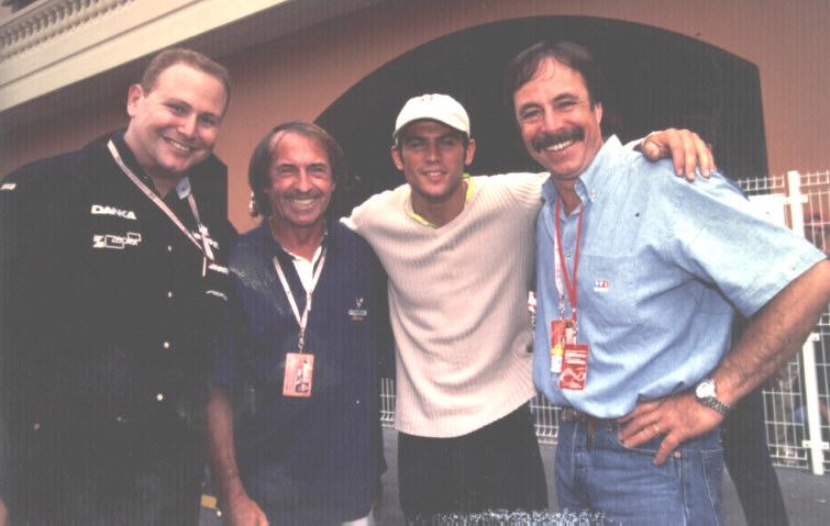 Jacques Laffite (TF1), Filip Nikolic (2 be 3) & Yves Génies (TF1)