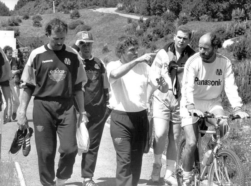Olympique de Marseille. Font-Romeu. 1990.