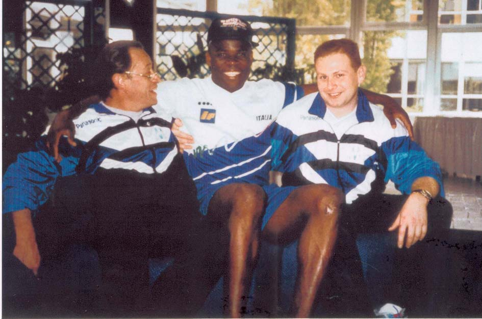 Olympique de Marseille. 1991. Basile Boli & Jacques Bailly