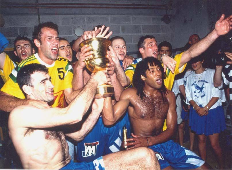 OM-Vitrolles Handball. Vainqueur de la Coupe d'Europe des Vainqueurs de Coupe 1993